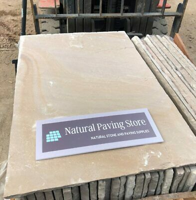 Raj Green Sandstone Paving Natural Indian Patio Slabs 22mm Calibrated 600X900 • 160.30£