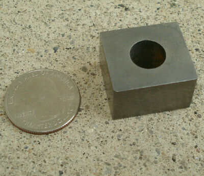 $7.99 • Buy Square Machinist RECTANGLE CUBE W/ Hole Part Tool 1  Small Milling NUT SHAPE