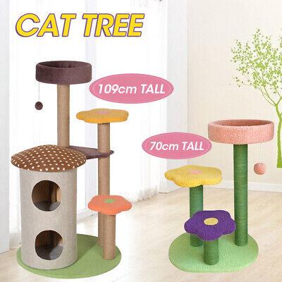 AU59.98 • Buy Cat Tree Scratch Post Scratcher Tower Claw Scratch Resistant Condo Bed Toys