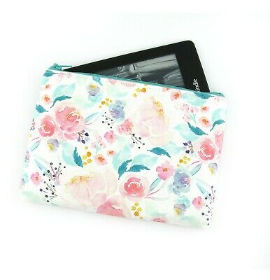 AU28 • Buy Mint Watercolour Floral Kindle Padded E-Reader Case, Paperwhite Sleeve, Oasis