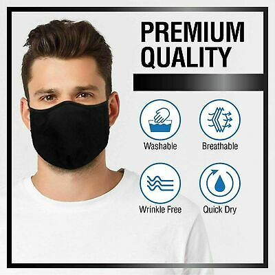 AU11.95 • Buy Washable Face Mask Reusable Triple Layer Cotton Unisex Teens Adults Mouth Cover
