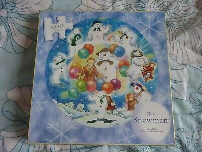 Puzzle 500 Pcs Round Puzzle  The Snowman By Raymond Briggs • 3.99£