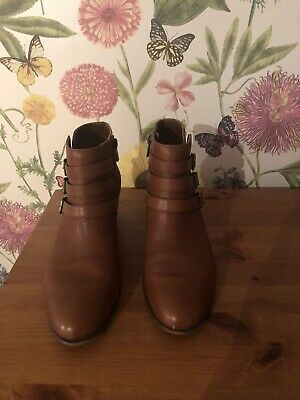 Clarks Tan Leather Maypearl Rayna Ankle Boots Size UK 7D Eu 41 • 40£