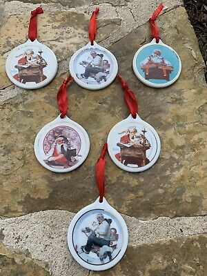 $ CDN30.44 • Buy Lot Of 6 Christmas Ornaments Norman Rockwell JcPenney 1996,1997,1995,1998,