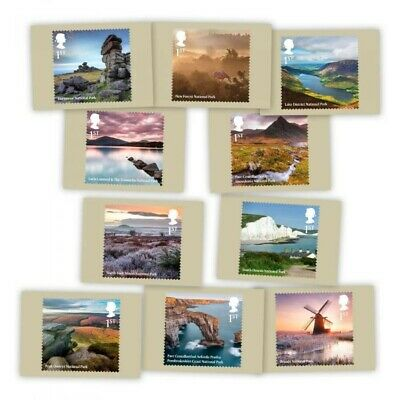 Brand New Royal Mail 2021 National Parks Stamp Card Pack (10 Cards In Pack) • 4.50£