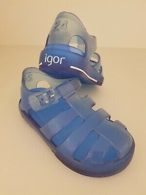 Blue Igor Jelly Shoes Size 24 New • 15£