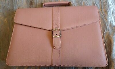 Pink Faux Leather Satchel/Briefcase • 5.99£