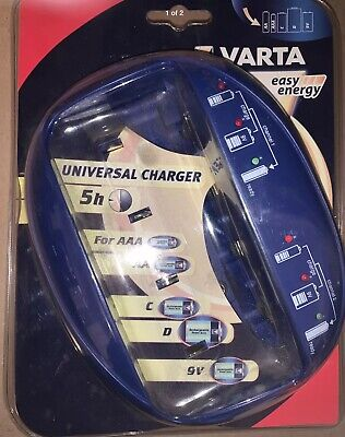 £17.95 • Buy Varta Universal Battery Charger 57168101401 For AA, AAA, C, D And 9V Batteries
