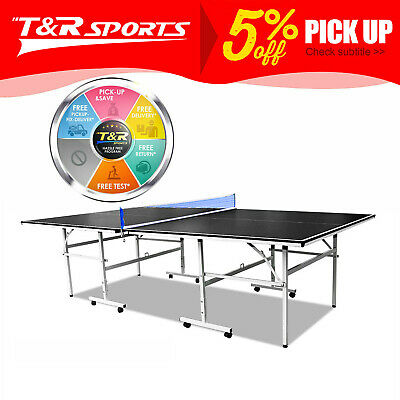 AU386.99 • Buy Black 13mm Double Happiness Ping Pong Table Tennis Table AU