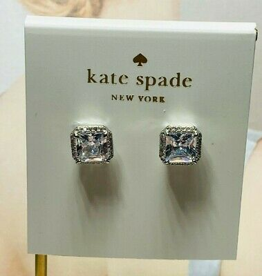 $ CDN9.57 • Buy Kate Spade New York Crystal Square Stud Earrings Sliver