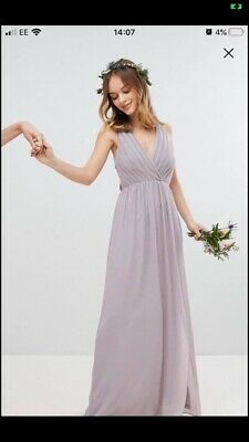 Grey/mink Bridesmaid/prom Dress ASOS Size 10 • 22£
