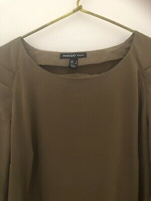 AU5.99 • Buy Mango Olive Green Dress Size S