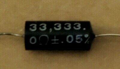 $9.98 • Buy 33,333.0 Ohm (33K3330)+/_0.05% R22C Precise Resistor Julie Research Labs NY USA