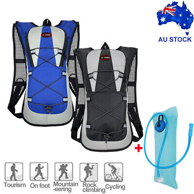 AU22.99 • Buy Hiking Camping Cycling Running Hydration Pack Backpack Bag + 2L Water Bladder