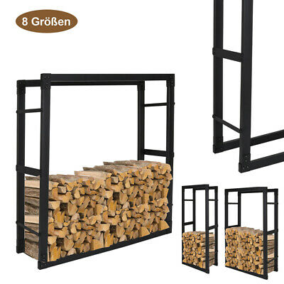 Lograck Friewood Holder Stand 3 Size Wood Holder Fireside Tall Store Steel • 45.99£