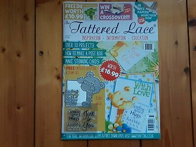 Tattered Lace Magazine, Issue 37, With Papers, Free Die And Stamp • 7.95£