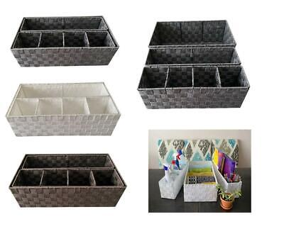£18.99 • Buy Woven Storage Box Basket Bin Container Tote Organiser Divider For Home Office