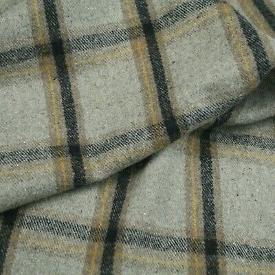 £5.80 • Buy Wool Blend Tweed Upholstery Grey  Check Fabric Sofa Cover Curtain Chairs Clothes