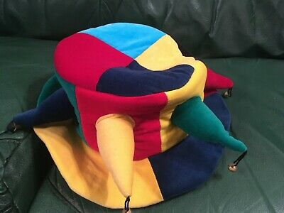 Jester Hat With Bells Multi-Coloured • 5£