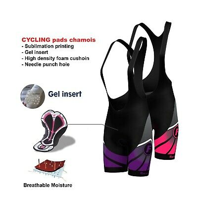 AU44.99 • Buy FDX Women's Cycling Bib Shorts 3D Gel Padded Cycling Pants Bike Shorts Tights