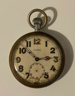 Antique CYMA Pocket Watch   -- NOT WORKING • 5.50£