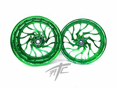 $2399.99 • Buy Gsxr Stock Size Illusion Green Hellian Wheels 01-08 Suzuki Gsxr 1000