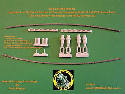 $25.95 • Buy Special Ops 1:16 M1A1 & A2 Abrams Tank Tow Cable Sets For Trumpeter Or Tamiya