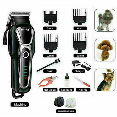 Professional Pet Dog Grooming Clipper Kit Thick Fur Hair Electric Shaver Trimmer • 22.89£