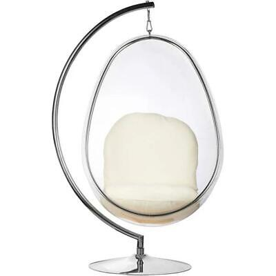 Stainless Steel Frame Hanging Egg Bubble Chair With Stand Various Colours • 998.99£