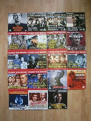 CLASSIC WAR MOVIES DVD BRITISH FILMS DAILY MAIL PROMO DVDS FILM X 18 MOVIE • 17.50£