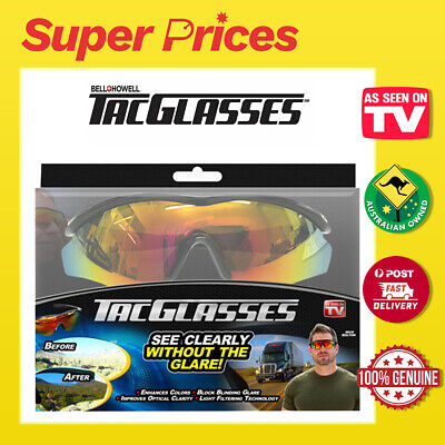 AU39.95 • Buy TAC GLASSES◉Military Inspired SUNGLASSES◉BLOCK GLARE◉ENHANCE COLOR◉AS SEEN ON TV