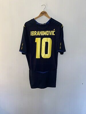 Sweden Football Shirt Ibrahimovic #10 Adults XXL Immaculate Condition • 50£