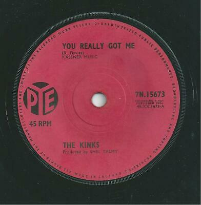 The Kinks You Really Got Me 1960's Vinyl 45 Rpm Record Owned From New 1st Press • 3£
