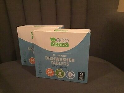Eco Action - Eco / Environmentally Friendly Dishwasher Tablets X 60 • 5.30£