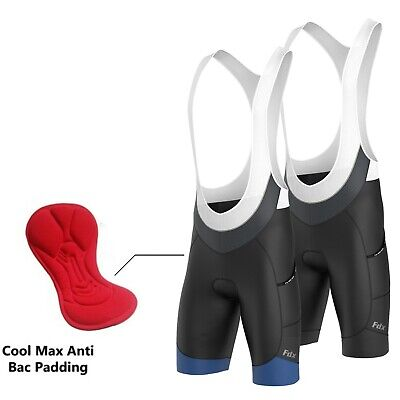 AU49.99 • Buy Fdx Mens 4D Cycling Bib Shorts Gel Chamois Padded Cycling Shorts Tights Pants