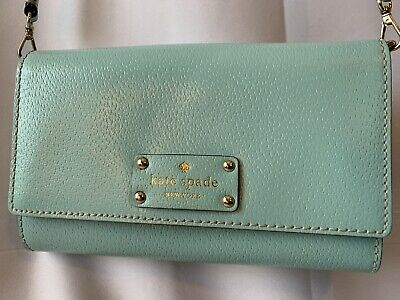 $ CDN31.88 • Buy Kate Spade Blue  Leather Crossbody Bag Purse