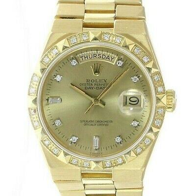 $ CDN16432.51 • Buy Rolex Day-Date Oysterquartz President 18K Gold Champagne Dial Mens Watch 19018