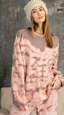 $ CDN53.49 • Buy EASEL Brand Anthropologie Women's Tie-Dye Sweatshirt Pullover Mauve Pink L Large
