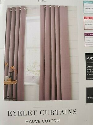 Next Mauve 90 X90  Eyelet Lined Curtains *BRAND NEW* Fab!  • 21.50£