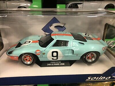 Solido Diecast 1/18 Gulf Ford Gt40 Mk1 Widebody #9 Winner Le Mans Rodriguez 1968 • 44.95£