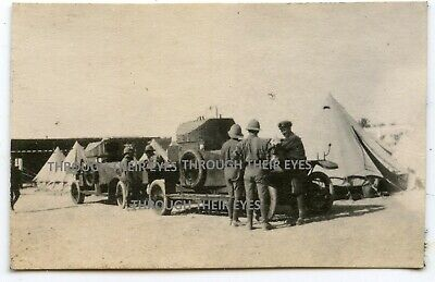 Original WWI Photo 2 RNAS Rolls Royce Armoured Cars Alexandria 1916 WW1 • 75£