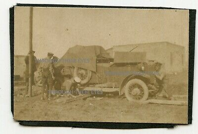 Original WWI Photo RNAS Rolls Royce Armoured Car Egypt 1916 WW1 • 60£