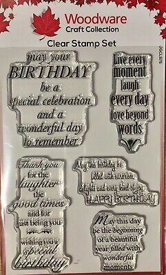 Woodware Clear Stamp Set - Delightful Verses By Jane Gill JGCL575 • 6.50£