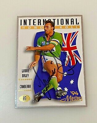 AU50 • Buy 1994 Dynamic Marketing Rugby League Base Card 85 Laurie DALEY *Signed* Raiders