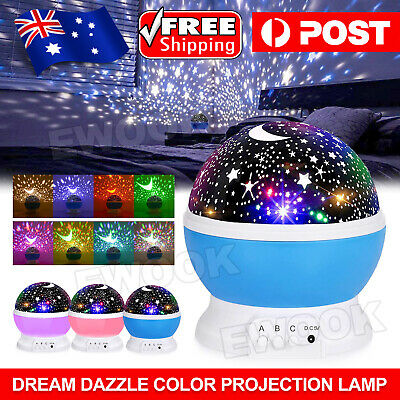 AU13.85 • Buy LED Night Star Sky Projector Light Lamp Rotating Starry Baby Room Kids Gift AU