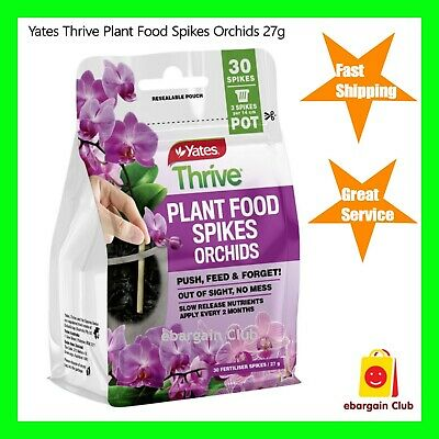 AU19.99 • Buy Yates Thrive Plant Food Spikes Orchids 27g (30 Spikes) - 3 Spikes Per 14cm Pot