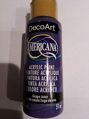 Grape Juice Americana Acrylic Paint By DecoArt Size 59ml 2fl.oz For Craft • 2.95£