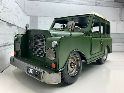 Land Rover Model Tin Metal Vintage Look 4X4 Defender Collector 36CM Long • 34.99£