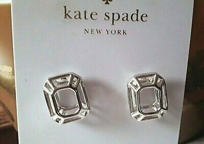$ CDN29.18 • Buy KATE SPADE New York Earrings NWT FREEZE FRAME  Silver Stud MODERN ICONIC 3D Cage