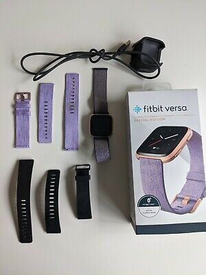 $ CDN82.94 • Buy Fitbit Versa Special Edition Smartwatch, Lavender Woven, With Three Bands
